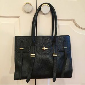 Rebecca Minkoff black and gold handbag